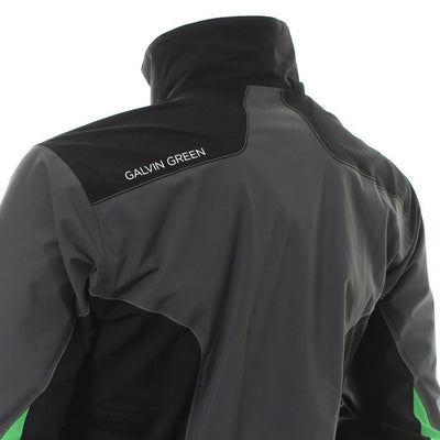 Galvin Green Mens ANGELO Paclite Gore-Tex Waterproof Jacket - IRON/GREEN