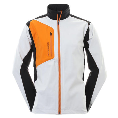Galvin Green Mens ANGELO Paclite Gore-Tex Waterproof Jacket - White/Black/Orange