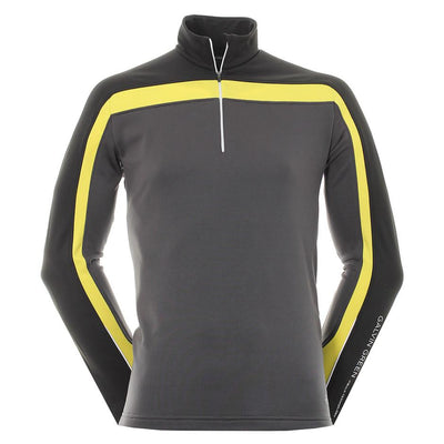 Galvin Green Mens Danny Gore Interface-1 Golf Pullover - BLACK/YELLOW