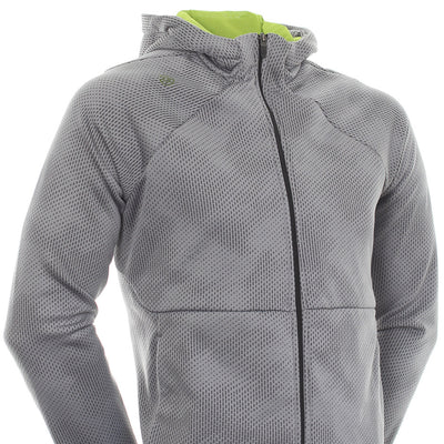 Galvin Green Mens DOLPH Insula FULL ZIP HOODIE - SHARKSKIN / LIME / GREY
