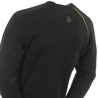 Galvin Green Mens EDGE E-INSULA GG Logo Crew Neck - BLACK