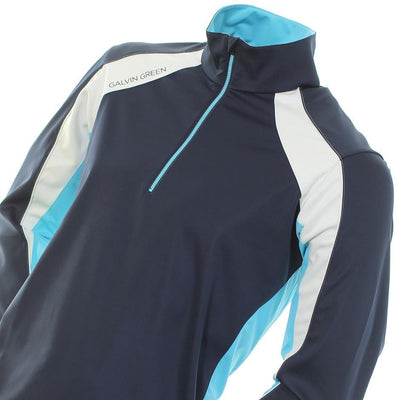 Galvin Green Mens Lennox Gore Interface-1 Golf Pullover - NAVY/RIVER BLUE