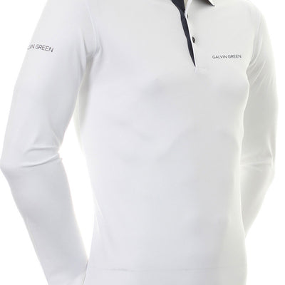 Galvin Green Mens MARC TOUR VENTIL8™ PLUS Polo - SNOW / IRON GREY
