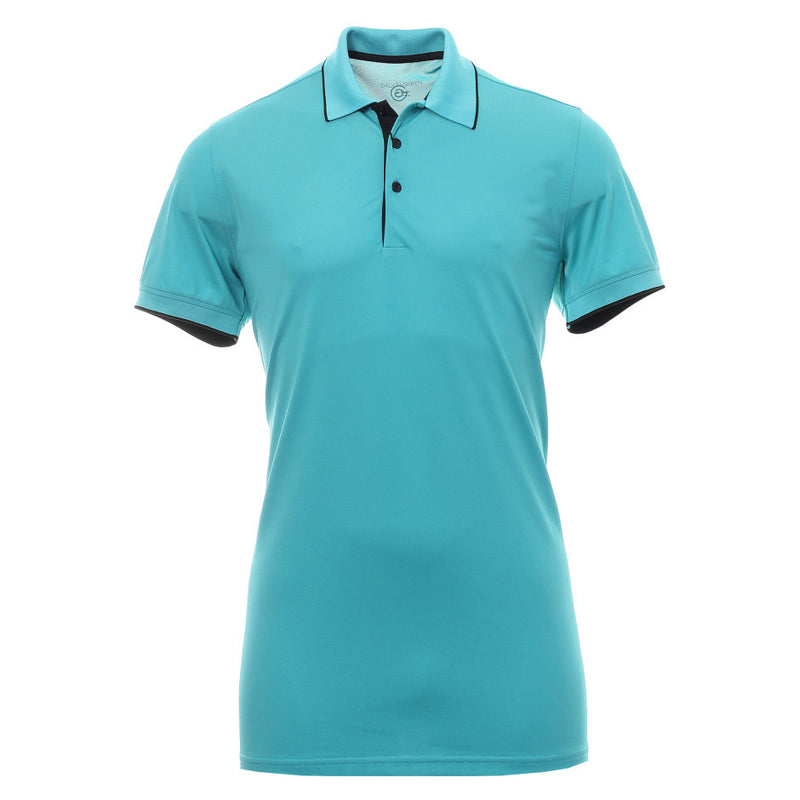 Galvin Green Mens MARTY  VENTIL8™ PLUS Polo - RIVER BLUE / NAVY