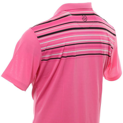 Galvin Green Mens MELWIN VENTIL8™ PLUS Polo - MAGENTA/BLACK