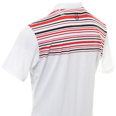 Galvin Green Mens MELWIN VENTIL8™ PLUS Polo - White/Red