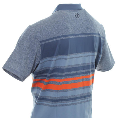 Galvin Green Mens MIGUEL VENTIL8™ PLUS Polo - ENSIGN BLUE/ FADED DENIM/ FLAME
