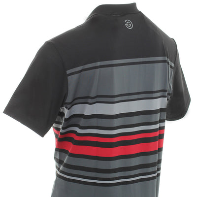 Galvin Green Mens MIGUEL VENTIL8™ PLUS Polo - IRON GREY / BLACK /SHARKSKIN