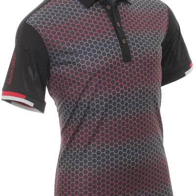 Galvin Green Mens MYLES VENTIL8™ PLUS Polo - BLACK/RED