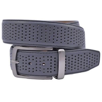 Greg Norman Collection Mens Perforated Fashion Stretch Belts - GRAY