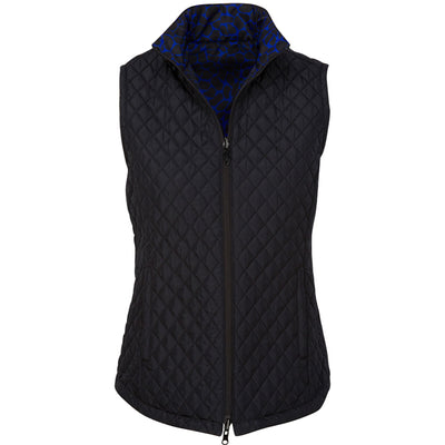 Greg Norman Womens Reversible Quilted Giraffe Print Vest