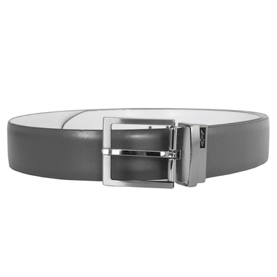 Greg Norman Collection Mens Reversible Fashion Belts - Grey/White
