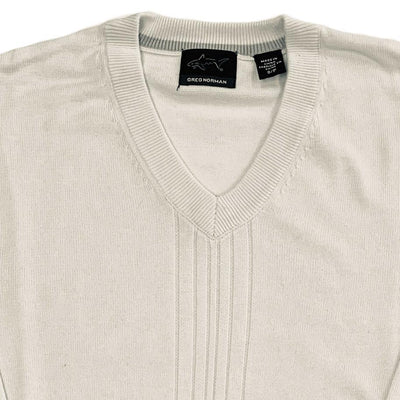 Greg Norman Collection Men's Drop Needle Textured V-Neck Sweater - Ceramic