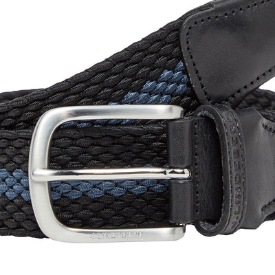 J.LINDEBERG Mens - HADES ELASTIC STRIPE GOLF BELT - BLACK