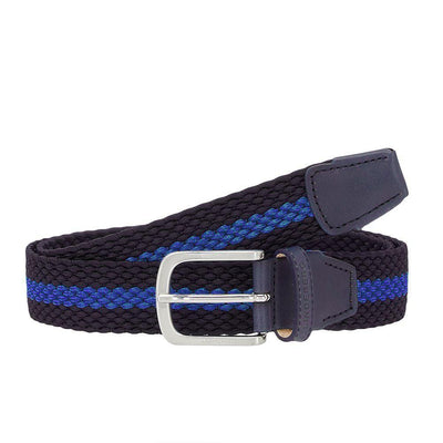 J.LINDEBERG Mens - HADES ELASTIC STRIPE GOLF BELT - JL NAVY