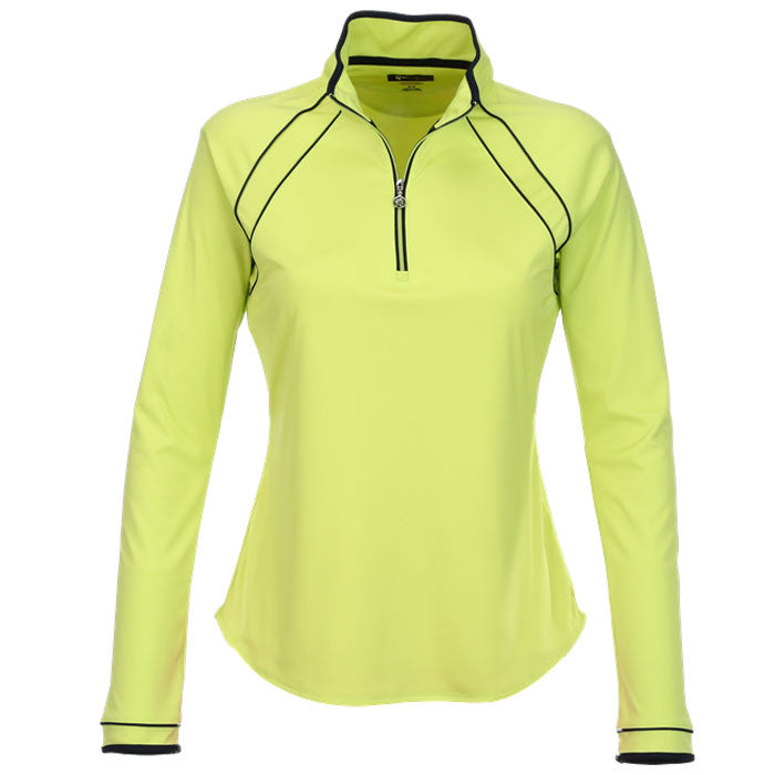 Greg Norman 1/2 Zip Piped Trim Pullover