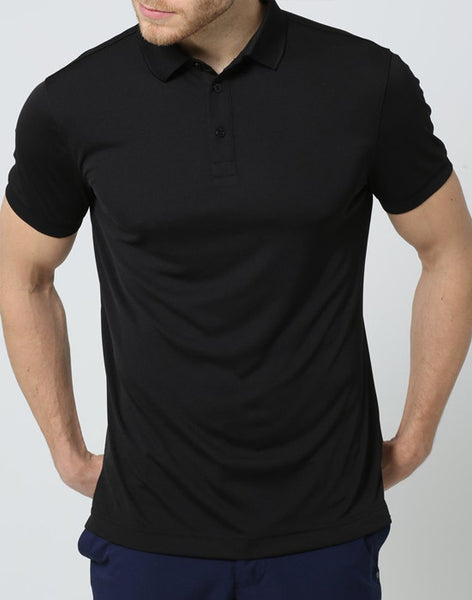 J Lindeberg Mens - Hunter Reg Fieldsensor 2.0 Polo - Black