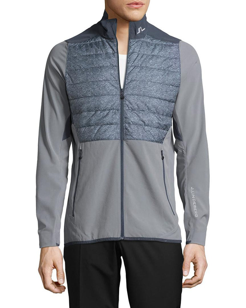J Lindeberg Men's Hybrid Jacket Mixed Poly - GRANITE MELANGE