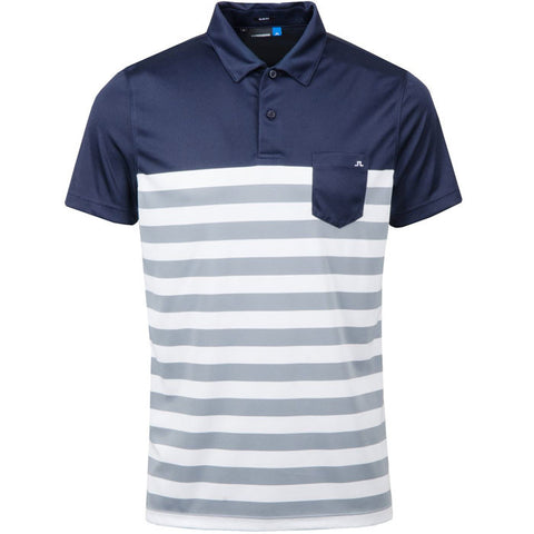 CARL SLIM TX JERSEY POLO SHIRT - BLUE NAVY