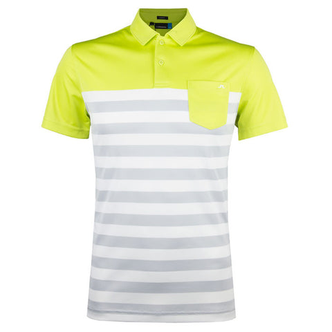 CARL SLIM TX JERSEY POLO SHIRT SS17 - LIME