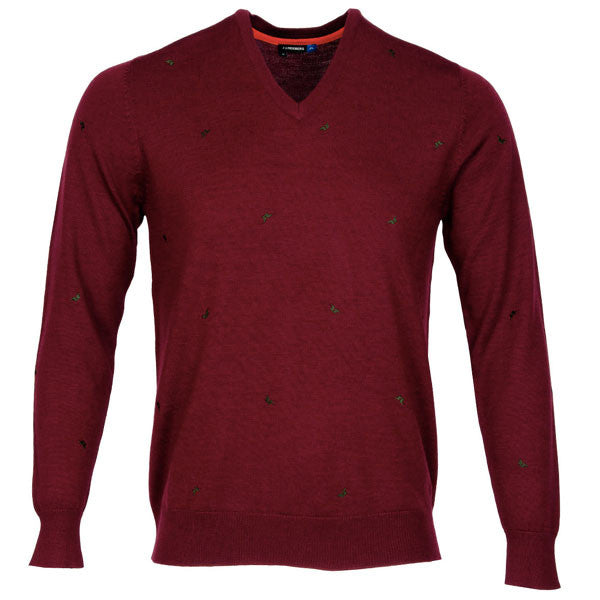 J.L Allover Bridge Sweater - Plum