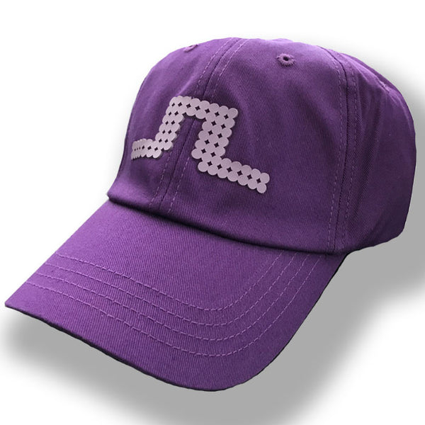 J Lindeberg Bridge Solid Fittled Cap Twill Cap - Purple