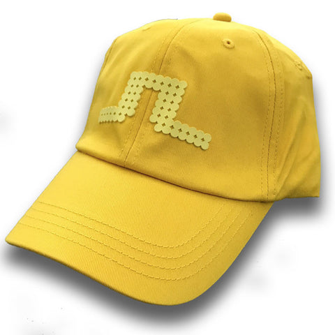 J Lindeberg Bridge Solid Fittled Cap Twill Cap - Yellow