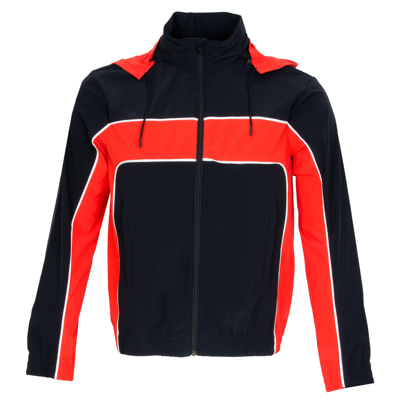 J Lindeberg Men's Moe Jacket Lux SoftShell - BLACK/RED