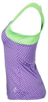 JoFit Lagoon Tennis Tank - Purple Polka Dot