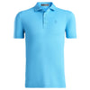 G/FORE MENS ESSENTIAL PIQUE POLO- RIVER - SZ M