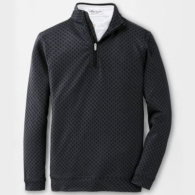 Peter Millar -Youth Skulls Perth Performance Quarter-Zip - BLACK - SZ SMALL