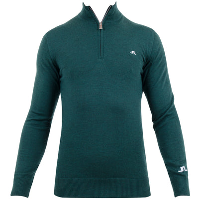 J.LINDEBERG MENS LTD EDITION  KIAN TOUR MERINO SWEATER - GREEN