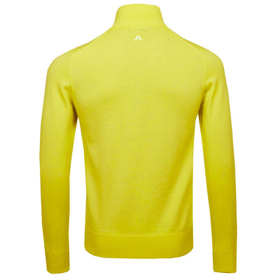 J.LINDEBERG MENS LTD EDITION  KIAN TOUR MERINO SWEATER - RADIANT YELLOW