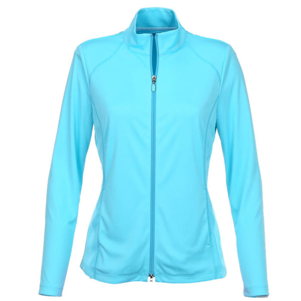 Greg Norman Ladies Knit Jacket/Back Pleat Detail