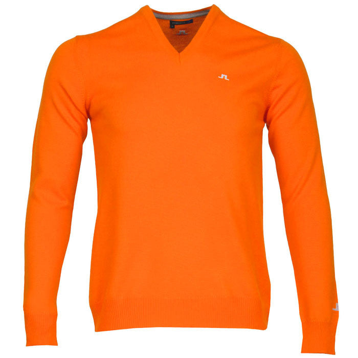 J.L Lymann Tour Merino Sweater - Racing Orange - Sz Medium