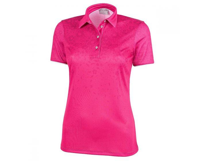 Galvin Green Womens Minoo V8+ Golf Polo Shirt - DEEP PINK