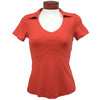 Womens Catwalk Taylor Short Sleeve Golf Top - Melon