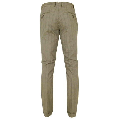 J.L Camden Narrow Fit ULC Cotton Pants - Checked Beige