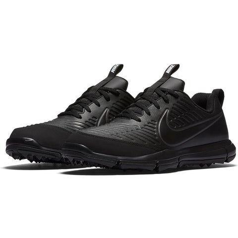 Nike Men's Explorer 2 Golf Shoes - BLACK/BLACK-MTLC DARK GREY