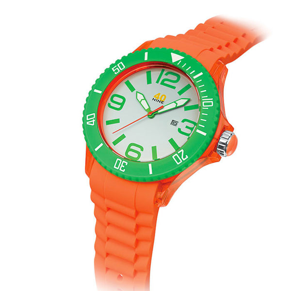 40NINE Orange and Green Watch
