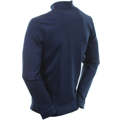 Original Penguin - CLUBHOUSE MOCK GOLF PULLOVER - BLACK IRIS