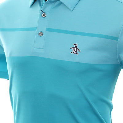 Original Penguin - BIRDSEYE BLOCK GOLF POLO - CARIBBEAN SEA