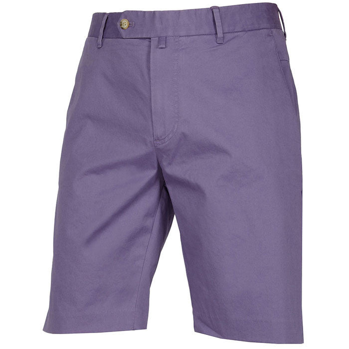 J.L Otto Light Twill Stretch Chino Shorts - Purple Dust Sz 31