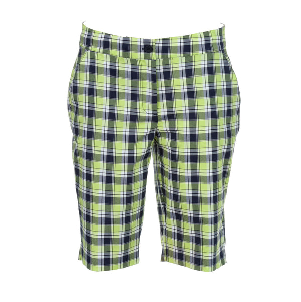 Greg Norman Ladies Plaid Short - Apple Green