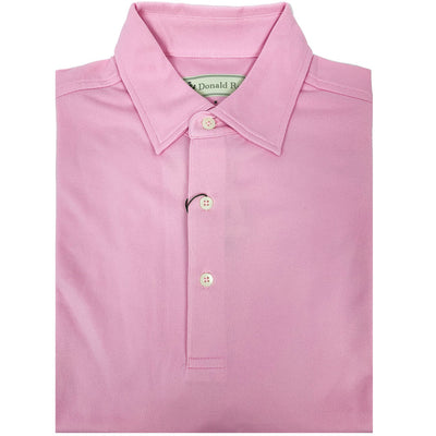 Mens Short Sleeve Solid Pique Polo - PINK