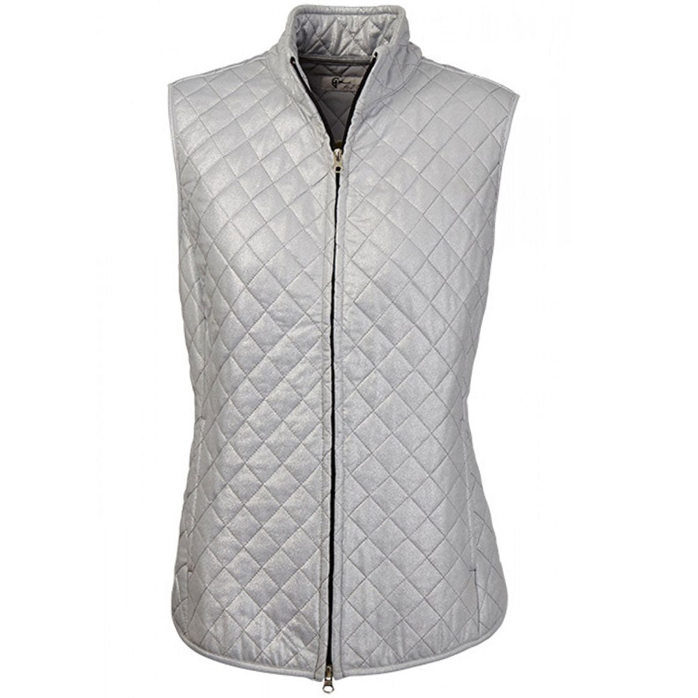 Greg Norman Womens Foil Print Quilted Vest