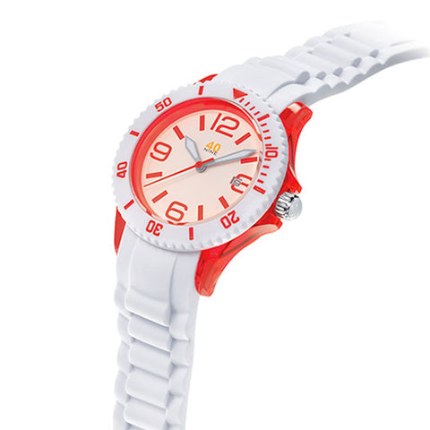 40NINE Red and White Watch