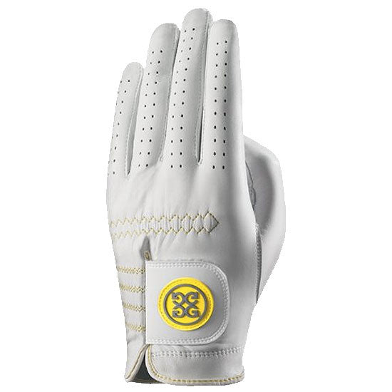 G-Fore Rocky Yellow Luxe Carbretta Leather Glove WOMENS