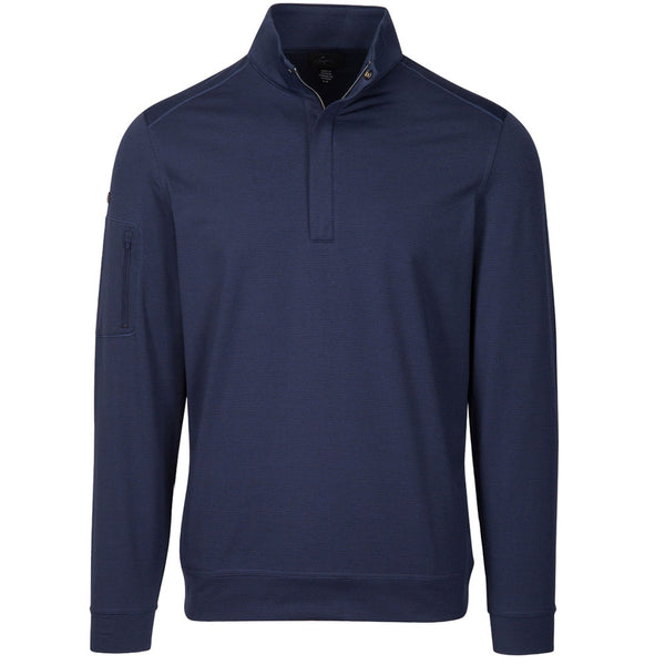 Greg Norman Seaside Long Sleeve 1/4 zip mock- Navy