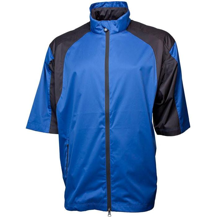 Greg Norman Mens Epic Short Sleeve All Day Rain and Wind Jacket - Coastal